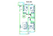 三居室101.39平方米