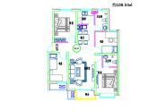 二居室108.53平方米