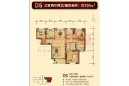 D5户型3室2厅2卫