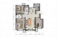 122平米-M户型-三室两厅两卫