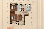 B5、B6#楼标准层F1户型