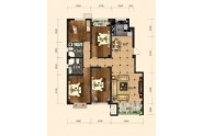 4室2厅2卫,144平米(建筑)